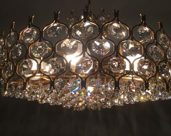 Palwa chandelier gold plated Crystal mid Centuri modern