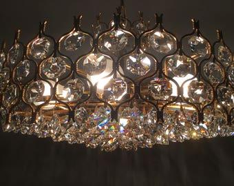 Palwa chandelier gold plated Crystal mid Centuri modern