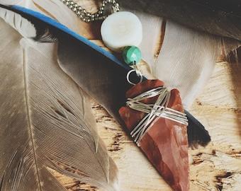 Arrowhead Necklace, Arrowhead, Arrow Jewelry, Arrowhead Jewelry, Turquoise, Turquoise Necklace