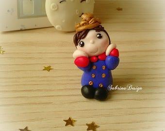 Little prince favor, little prince, polymer clay boy favors, baptism favors, baby shower favors, birthday keepsake, communion little prince