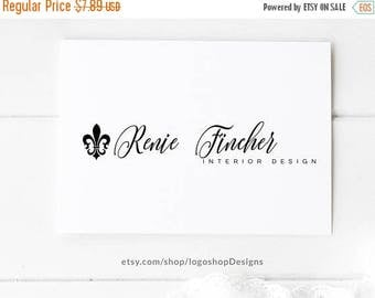 SALE ENDS SOON Fleur De Lis Logo Interior Design Premade Pre Made
