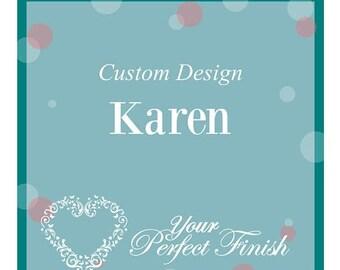 ON SALE Custom made Order for Karen