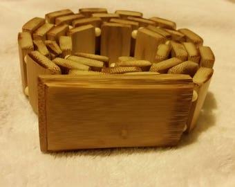 Carved Bamboo Adjustable Belt