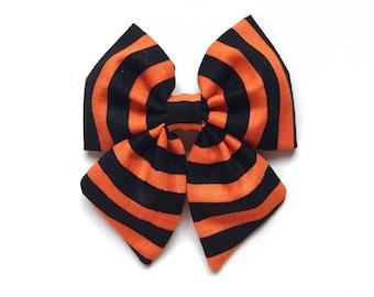 Millie Bow, Black and Orange Stripes