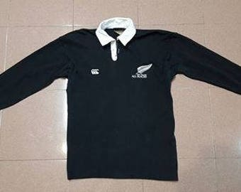 Vintage CANTERBURY  New Zealand All Blacks Rugby Jersey Shirt Size S Rare not nike adidas north face parka puma reebok fila fred tommy rl