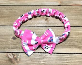 Llama Headband- Llama Bow; Baby Headbands; Baby Girl Headband; Baby Headband; Girls Headband; Toddler Headband; Newborn Headband; Hair Bow