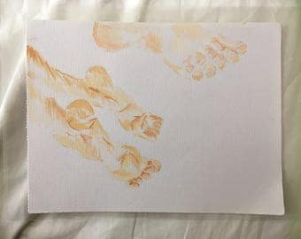 Foot study-Watercolour and pencil