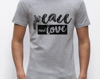 T-shirt man PEACE AND LOVE