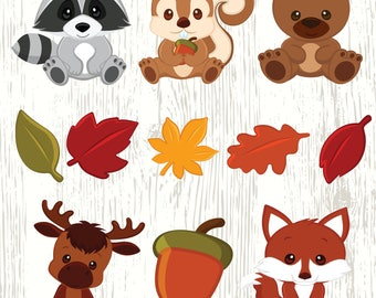 Woodland Creatures Clipart