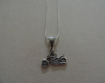 Motorcycle, snake chain necklace