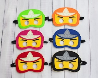 Ninjago Party Masks, Ninjago Birthday, Ninjago Party, Ninjago Party Favors