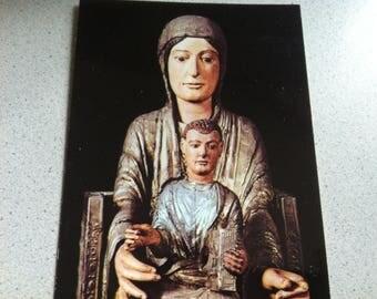 Vintage Religion Church Madonna Postcard Maria Photo