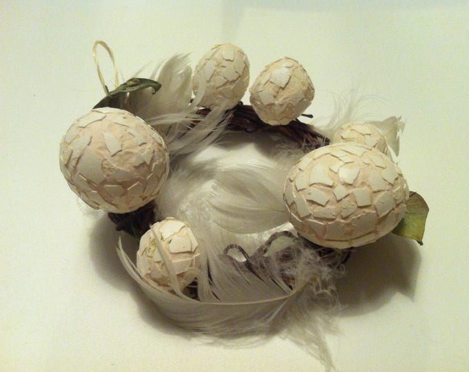 Vintage egg wreath beautiful Decoration