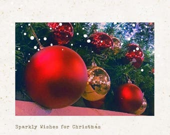 Greeting Card - Sparkly Christmas