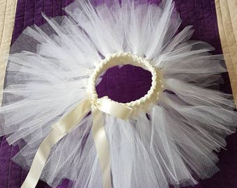 Baby tutu skirt with knitted waist