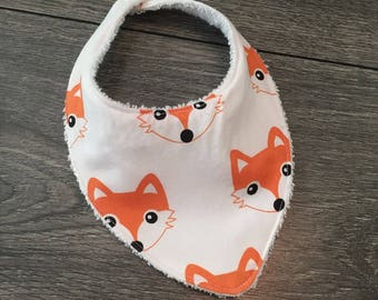 Bandana bib for baby with embroidery or appliqué fully customizable