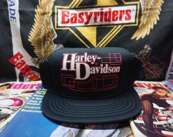 VTG 80s Harley Davidson UNWORN  Snapback Trucker Hat