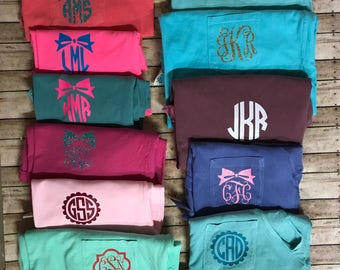 Monogram tshirt sale. Monogram shirts. Custom monogram shirt. Monogrammed tshirt.