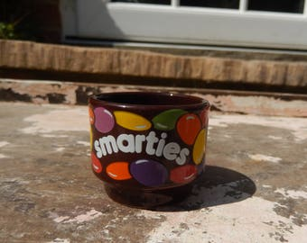 Vintage Hornsea Pottery Smarties Egg Cup, 1980s Retro Rowntree Egg Cup, Breakfast Egg Cup, Smarties, Hornsea Pottery Egg Cup