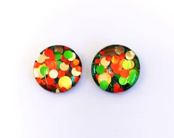 The 'Earthbound' Glitter Glass Earring Studs