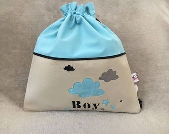pouch to order personalized cloud cover snack bag, personalized school supply