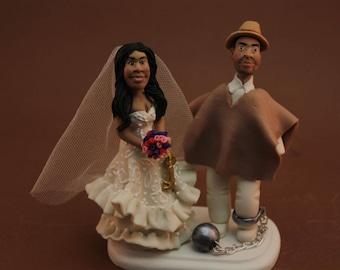 Custom folklore, FOLK, Cake Topper, Wedding keepsake. The bride and groom. Cake topper.Cake decoration. Party Supplies. gym