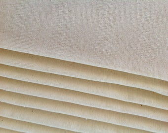 Mexican Fabric Manta Cruda By the Yard Ivory Tela de Manta Canvas Cotton Fabric Craft Fabric Mexican Manta 50""