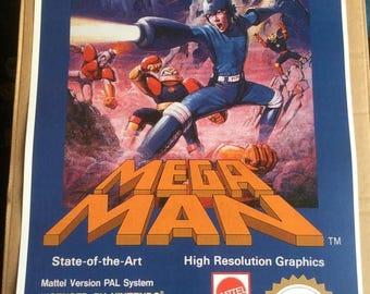 Now ON SALE Mega man  nes  game Poster Print In A3 #retrogaming please read description