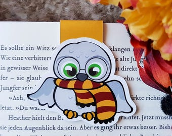 """Magnetic Bookmark """"Hedwig""""-inspired by Harry Potter"""