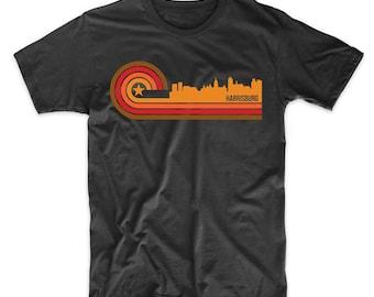 Retro Style Harrisburg Pennsylvania Skyline T-Shirt