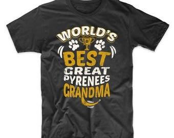 World's Best Great Pyrenees Grandma Graphic T-Shirt