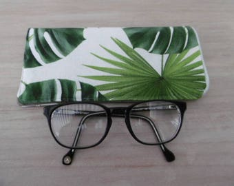 Palm leaves glasses case