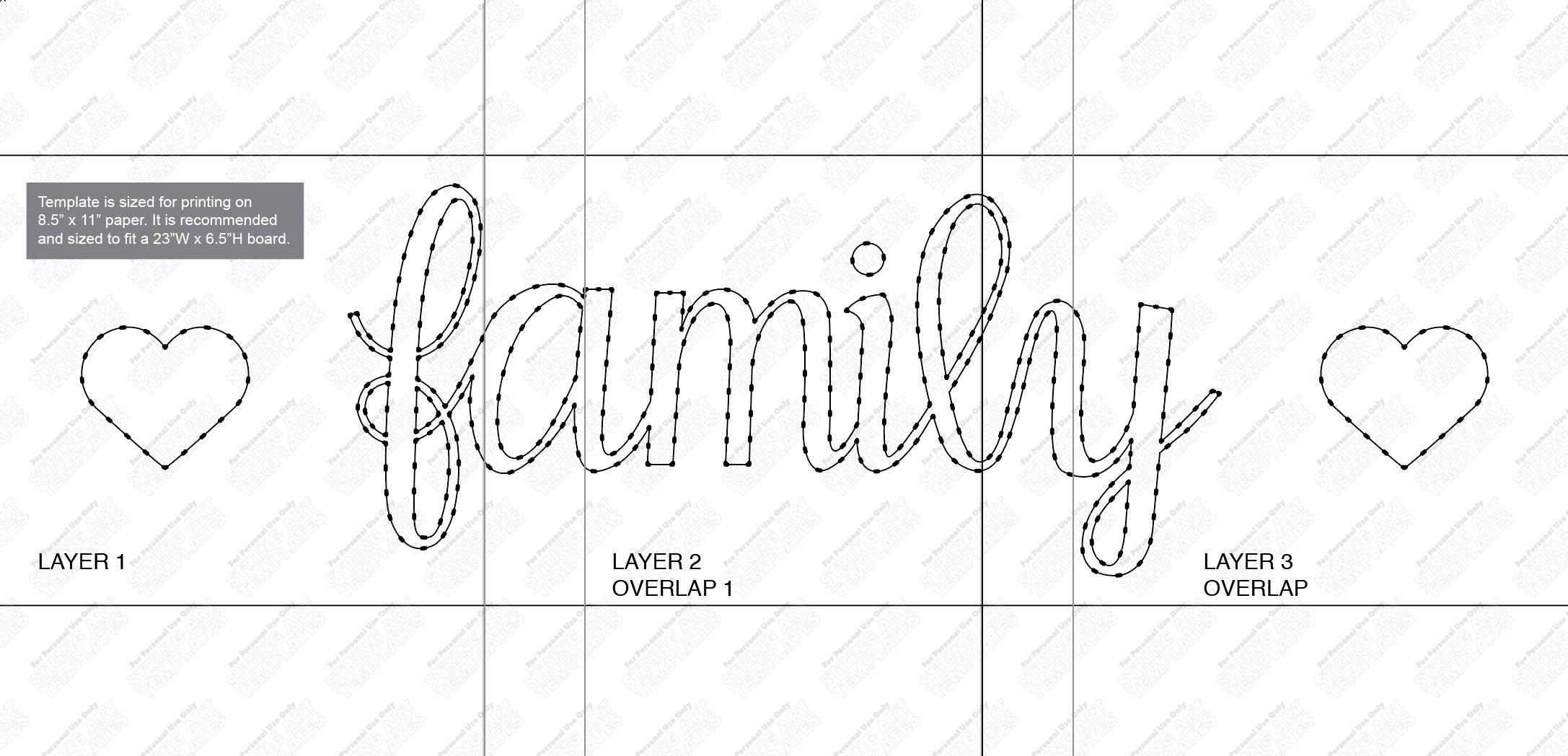 Family string art templates patterns patterns kid string art template 340x270 family maxwellsz
