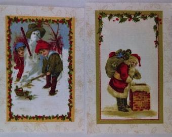 7 Vintage Christmas Quilt Labels