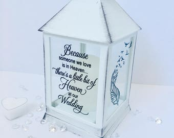 Wedding remembrance gift, remembering a loved one at a wedding, memorial lantern, memorial candle, wedding lantern, wedding candle, wedding
