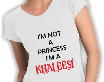 Women's v neck t shirt I'm not a princess, i'm a K