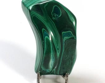 Polished Malachite from Congo, 296 grams.