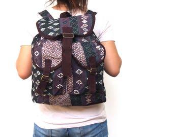 Tribal Backpack,hipster backpack , school backpacks,Hippie backpack,Travel bag,bike backpack,Everyday Bag ,boho backpack,bohemian backpack