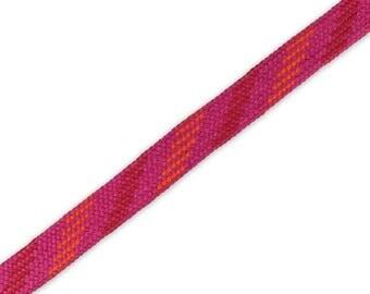 1 m braided Cord pink-orange-red 14 mm