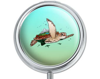 Sea Turtle Flying Pill Case Trinket Gift Box