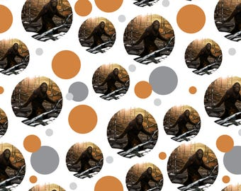 Bigfoot sasquatch walking in the woods premium gift wrap wrapping paper roll