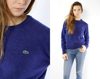 Lacoste Jumper / Lacoste Sweater / Lacoste Jumper Blue / Lacoste Sweater Blue / Lacoste Vintage / Lacoste / Lacoste Wool Jumper