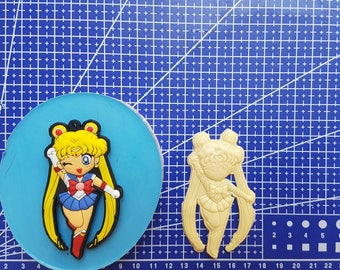 Flexible silicone mold Sailor Moon!