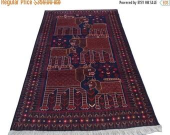 35% OFF Final sale Stunning Afghan nomadic pictorial rug 100 Percent wool