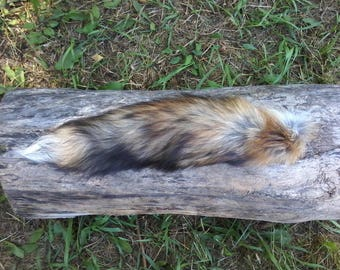 Red fox tail, craft fur, animal tail