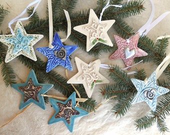 Ceramic Fancy Star Ornaments