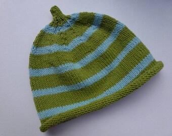 Striped beanie baby hats for boys KU 40/42
