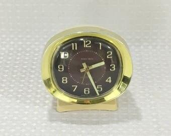 Vintage WESTCLOX BABY BEN Alarm Clock White with Brass Trim - circa 1956 - 1964 - Free Shipping!!
