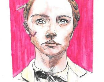 8x10 High Quality Art Print - Agatha - Wes Anderson's Grand Budapest Hotel