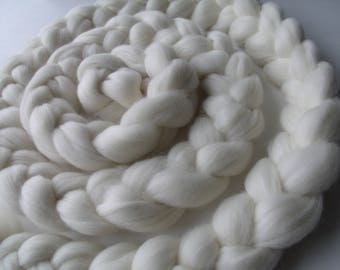 Shooting sessions and baby child white Merino Wool braid